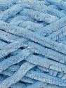 Fiber Content 95% Micro Fiber, 5% Lurex, Silver, Brand Ice Yarns, Baby Blue, Yarn Thickness 5 Bulky  Chunky, Craft, Rug, fnt2-36483