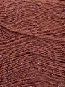 Fiber Content 70% Acrylic, 5% Lurex, 25% Angora, Rose Brown, Pink, Brand Ice Yarns, Yarn Thickness 2 Fine  Sport, Baby, fnt2-36553