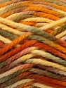 Fiber Content 100% Acrylic, Yellow, Orange, Brand Ice Yarns, Green, Brown, Yarn Thickness 6 SuperBulky  Bulky, Roving, fnt2-37038