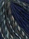 Fiber Content 50% Acrylic, 30% Wool, 20% Alpaca, Brand ICE, Grey Shades, Dark Purple, fnt2-37489