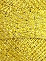Fiber Content 70% Polyester, 30% Metallic Lurex, Yellow, Brand Ice Yarns, Yarn Thickness 0 Lace  Fingering Crochet Thread, fnt2-38605