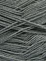 Fiber Content 55% Cotton, 45% Acrylic, Brand ICE, Grey, Yarn Thickness 1 SuperFine  Sock, Fingering, Baby, fnt2-38666