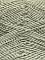 Fiber Content 55% Cotton, 45% Acrylic, Light Grey, Brand ICE, Yarn Thickness 1 SuperFine  Sock, Fingering, Baby, fnt2-38667