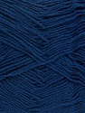 Fiber Content 55% Cotton, 45% Acrylic, Navy, Brand Ice Yarns, Yarn Thickness 1 SuperFine  Sock, Fingering, Baby, fnt2-38679