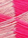 Very thin yarn. It is spinned as two threads. So you will knit as two threads. Yardage information if for two strands. Fiber Content 100% Acrylic, White, Pink, Brand Ice Yarns, Yarn Thickness 1 SuperFine  Sock, Fingering, Baby, fnt2-39107