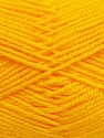 Fiber Content 100% Acrylic, Yellow, Brand Ice Yarns, Yarn Thickness 4 Medium  Worsted, Afghan, Aran, fnt2-39387