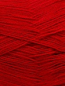 Very thin yarn. It is spinned as two threads. So you will knit as two threads. Yardage information is for only one strand. Fiber Content 100% Acrylic, Brand ICE, Dark Red, Yarn Thickness 1 SuperFine  Sock, Fingering, Baby, fnt2-39403