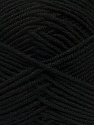 Fiber Content 100% Acrylic, Brand Ice Yarns, Black, Yarn Thickness 3 Light  DK, Light, Worsted, fnt2-39408