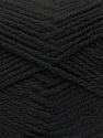 Fiber Content 100% Acrylic, Brand ICE, Black, Yarn Thickness 4 Medium  Worsted, Afghan, Aran, fnt2-39613
