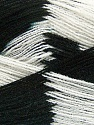 Very thin yarn. It is spinned as two threads. So you will knit as two threads. Yardage information if for two strands. Fiber Content 100% Acrylic, White, Brand ICE, Black, Yarn Thickness 1 SuperFine  Sock, Fingering, Baby, fnt2-39622