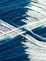 Very thin yarn. It is spinned as two threads. So you will knit as two threads. Yardage information if for two strands. Fiber Content 100% Acrylic, White, Teal, Brand ICE, Yarn Thickness 1 SuperFine  Sock, Fingering, Baby, fnt2-39628