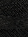 Fiber Content 100% Micro Fiber, Brand Ice Yarns, Black, Yarn Thickness 0 Lace  Fingering Crochet Thread, fnt2-39952