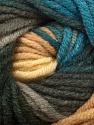 Fiber Content 70% Acrylic, 30% Merino Wool, Brand Ice Yarns, Grey Shades, Cream, Blue, Yarn Thickness 5 Bulky  Chunky, Craft, Rug, fnt2-39963