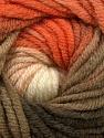 Fiber Content 70% Acrylic, 30% Merino Wool, Salmon, Orange, Khaki, Brand Ice Yarns, Cream, Yarn Thickness 5 Bulky  Chunky, Craft, Rug, fnt2-39964