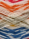 Fiber Content 50% Acrylic, 50% Polyamide, White, Red, Orange, Mustard, Light Grey, Brand Ice Yarns, Blue, Yarn Thickness 2 Fine  Sport, Baby, fnt2-40193