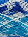 Fiber Content 50% Acrylic, 50% Polyamide, White, Brand Ice Yarns, Blue Shades, Yarn Thickness 2 Fine  Sport, Baby, fnt2-40194