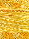 Fiber Content 100% Micro Fiber, Yellow Shades, Brand Ice Yarns, Yarn Thickness 0 Lace  Fingering Crochet Thread, fnt2-40201