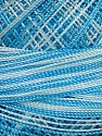 Fiber Content 100% Micro Fiber, Brand Ice Yarns, Blue Shades, Yarn Thickness 0 Lace  Fingering Crochet Thread, fnt2-40212