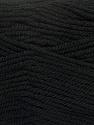 Fiber Content 80% Acrylic, 20% Wool, Brand Ice Yarns, Black, Yarn Thickness 4 Medium  Worsted, Afghan, Aran, fnt2-41243