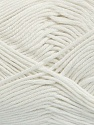 Fiber Content 50% Bamboo, 50% Cotton, White, Brand Ice Yarns, Yarn Thickness 2 Fine  Sport, Baby, fnt2-41439