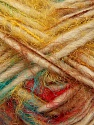 Fiber Content 40% Polyamide, 30% Merino Wool, 15% Acrylic, 15% Alpaca, Rainbow, Brand Ice Yarns, Cream, Yarn Thickness 5 Bulky  Chunky, Craft, Rug, fnt2-42055