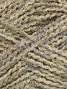 Fiber Content 75% Micro Polyester, 25% Metallic Lurex, Silver, Brand Ice Yarns, Cream, fnt2-42094