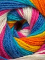 Fiber Content 100% Baby Acrylic, Yellow, White, Turquoise, Pink, Orange, Brand Ice Yarns, Blue, Yarn Thickness 2 Fine  Sport, Baby, fnt2-42268