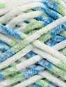 Fiber Content 100% Micro Fiber, White, Brand Ice Yarns, Green, Blue, Yarn Thickness 6 SuperBulky  Bulky, Roving, fnt2-42496