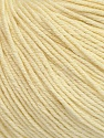 Fiber Content 60% Cotton, 40% Acrylic, Light Lemon Yellow, Brand Ice Yarns, Yarn Thickness 2 Fine  Sport, Baby, fnt2-42525