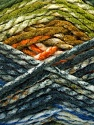 Easy knit bulky yarn. Note that this is a self-stripping yarn. Please see package photos for the color change. Machine washable and dryable. Fiber Content 100% Acrylic, Orange, Brand Ice Yarns, Grey, Green, Camel, Brown, Blue, Yarn Thickness 5 Bulky  Chunky, Craft, Rug, fnt2-42553