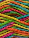 Fiber Content 80% Acrylic, 20% Wool, Yellow, Turquoise, Pink, Orange, Brand ICE, Green, Yarn Thickness 6 SuperBulky  Bulky, Roving, fnt2-42585