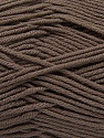 Fiber Content 50% Cotton, 50% Acrylic, Brand Ice Yarns, Brown, Yarn Thickness 2 Fine  Sport, Baby, fnt2-42588