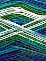 Fiber Content 100% AntiBacterial Micro Dralon, White, Turquoise, Purple, Brand Ice Yarns, Green, Yarn Thickness 2 Fine  Sport, Baby, fnt2-42650