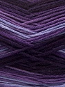 Fiber Content 100% AntiBacterial Micro Dralon, Purple Shades, Brand Ice Yarns, Yarn Thickness 2 Fine  Sport, Baby, fnt2-42651
