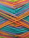 Fiber Content 100% AntiBacterial Micro Dralon, Turquoise, Orange, Light Lilac, Brand Ice Yarns, Green, Yarn Thickness 2 Fine  Sport, Baby, fnt2-42667