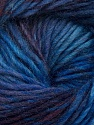 Fiber Content 70% Dralon, 30% Wool, Purple, Maroon, Brand Ice Yarns, Blue Shades, Yarn Thickness 4 Medium  Worsted, Afghan, Aran, fnt2-42697