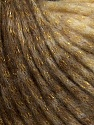 Fiber Content 8% Polyamide, 77% Acrylic, 15% Metallic Lurex, Brand Ice Yarns, Gold, Cream, Brown, Yarn Thickness 5 Bulky  Chunky, Craft, Rug, fnt2-42728
