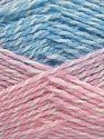 Note that this is a self-stripping yarn. Please see package photos for the color change. Machine washable and dryable. Fiber Content 100% Acrylic, White, Pink, Brand ICE, Blue, fnt2-42735
