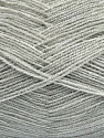 Very thin yarn. It is spinned as two threads. So you will knit as two threads. Yardage information is for only one strand. Fiber Content 100% Acrylic, Brand ICE, Dark Grey, fnt2-42864
