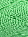 Very thin yarn. It is spinned as two threads. So you will knit as two threads. Yardage information is for only one strand. Fiber Content 100% Acrylic, Light Green, Brand Ice Yarns, Yarn Thickness 1 SuperFine  Sock, Fingering, Baby, fnt2-42865