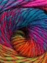 Fiber Content 70% Dralon, 30% Wool, Turquoise, Purple, Pink, Brand Ice Yarns, Green, fnt2-43142