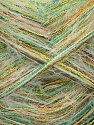 Fiber Content 50% Polyamide, 5% Metallic Lurex, 45% Polyester, White, Brand Ice Yarns, Green, Gold, Brown, fnt2-43147