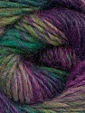 Fiber Content 70% Dralon, 30% Wool, Purple Shades, Brand Ice Yarns, Green Shades, Yarn Thickness 4 Medium  Worsted, Afghan, Aran, fnt2-43313