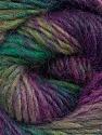 Fiber Content 70% Dralon, 30% Wool, Purple Shades, Brand Ice Yarns, Green Shades, Yarn Thickness 4 Medium  Worsted, Afghan, Aran, fnt2-43313