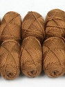 Please note that lengths are not equal for each lot. Fiber Content 100% Acrylic, Brand Ice Yarns, Brown, Yarn Thickness 1 SuperFine  Sock, Fingering, Baby, fnt2-43331