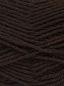 Fiber Content 70% Acrylic, 30% Wool, Brand Ice Yarns, Dark Brown, Yarn Thickness 2 Fine  Sport, Baby, fnt2-43362