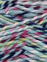 Fiber Content 100% Acrylic, Yellow, Pink, Navy, Light Blue, Brand Ice Yarns, fnt2-43512