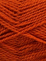 Fiber Content 60% Virgin Wool, 40% Acrylic, Brand Ice Yarns, Dark Orange, Yarn Thickness 2 Fine  Sport, Baby, fnt2-43538