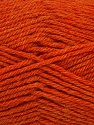 Machine washable. Lay flat to dry Fiber Content 80% Superwash Virgin Wool, 20% Acrylic, Orange Melange, Brand Ice Yarns, Yarn Thickness 3 Light  DK, Light, Worsted, fnt2-43687