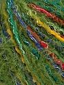 Fiber Content 45% Acrylic, 45% Polyamide, 10% Viscose, Rainbow, Brand Ice Yarns, Green, fnt2-43694
